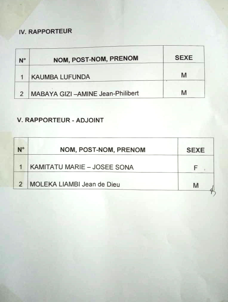 Liste des candidats aux élections du sénat RDC 2
